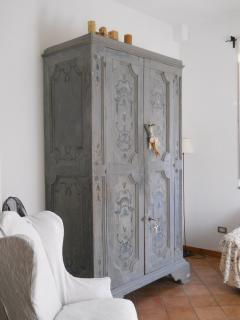Eighteenth-century cupboard in the living-room