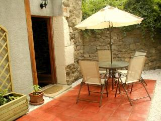 This gite's private side terrace with own barbecue