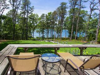 BRANP - Waterfront Home with Private Dock on Lagoon, Accessible to Vineyard Sound,  Media Room, Central AC,  Wi-Fi, Fully Renovated, Oak Bluffs