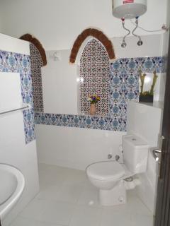 En-suite with walk in shower.
