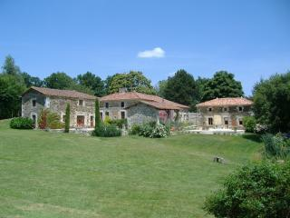 the gite (to the right) from the pool area