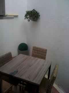 The terrace with outside seating