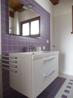 Il bagno dell'appartamento Lavanda