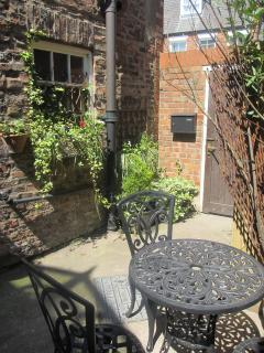 Outside courtyard shared with cottage