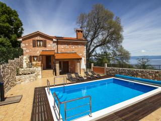 Villa Milena-Brsec-Rustical villa with heated pool