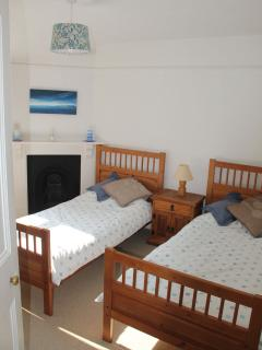 Twin bedroom on the first floor