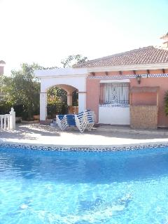 pool with the villa