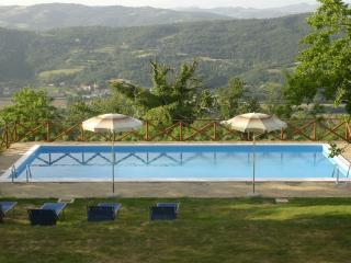 The 12m x 6m pool with stunning views