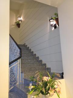 Staircase leading to other apartments.