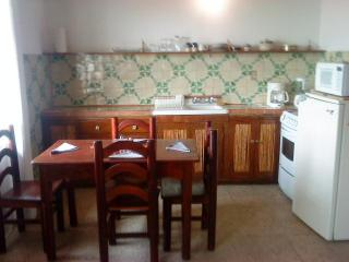 dining room / kitchen with hand painted tiles