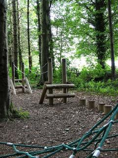 The adventure area for the older children