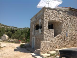 Holiday house on the island with a view to Kornati, Pasman Island