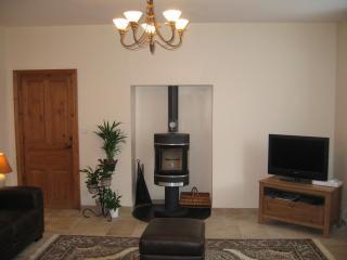 lounge with wood burner