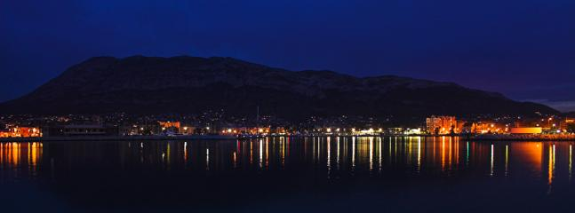 Denia Harbour at Night