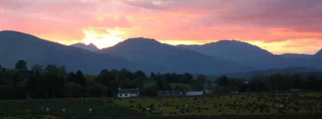 Spectacular sunset over the Cobbler