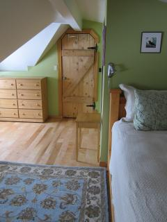 Master bedroom also has a comfortable sofa that folds down into a full size bed
