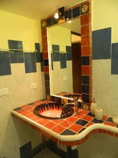 Mexican style decorations in bathrooms