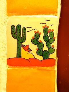 Mexican talavera decorates all units