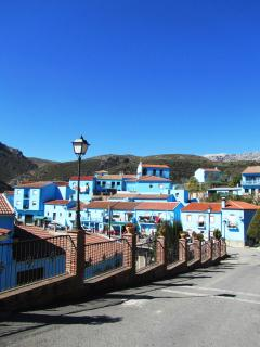 Juzcar village in the Andalusian Hills