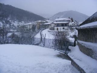 pueblo en invierno