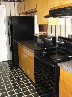 Kichen with new appliances.