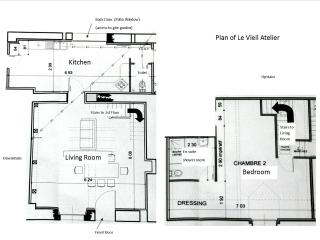 A Plan of Le Vieil Atelier - approx. 94 sq metres (1012 sq feet) in total