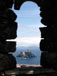 The Monks view from Skellig Michael to the mainland