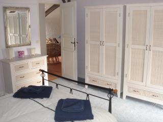Bedroom 2. Looking to mezzanine.