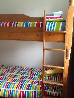 Two bunk beds.
