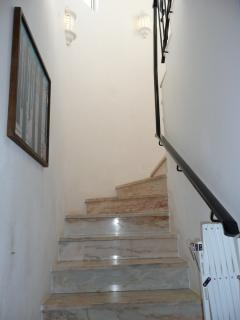 Stairway to the master bedroom