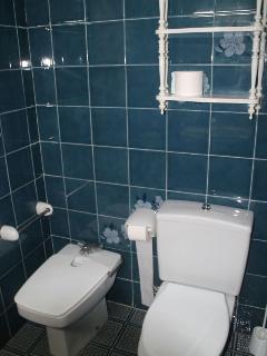 Aseo 2 con bañera mediana y bidé.