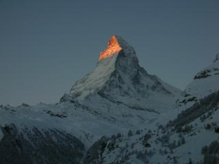 Matterhorn early in the morning, view from the balcony