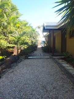 Sub-tropical garden entry