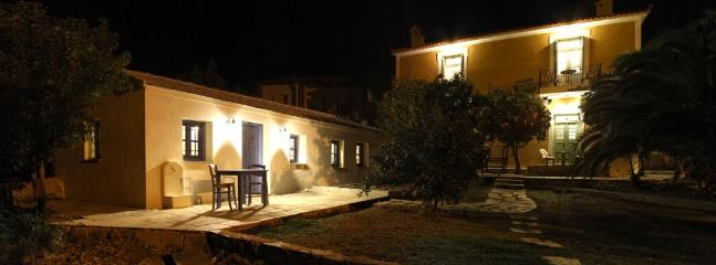 The Orchard Guesthouse at night