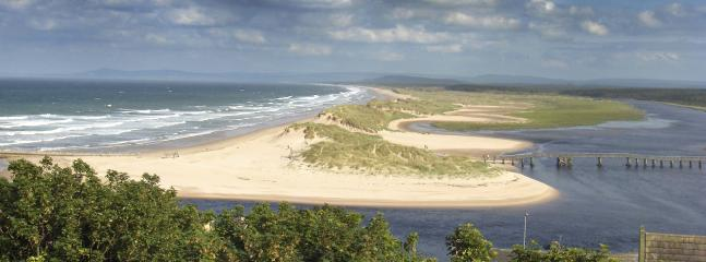 The mouth of the river Lossie and East Beach