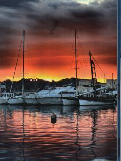il tramonto nel paradiso terrestre di La Maddalena