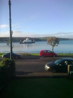 The view of the bay from the living room