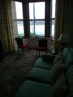 living room with view of Rothesay  Bay