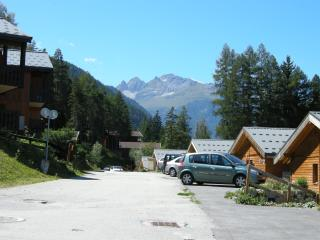View along the road towards the centre of La Norma Summer 2010