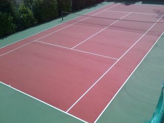 Newly resurfaced Tennis Court
