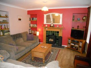 Living room with freeview channels, DVD and CD Player