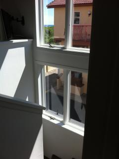Windows on staircase