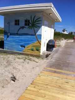 Bathrooms on the beach