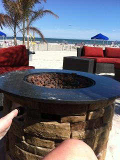 Fire pits on beach