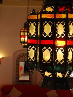 The Moroccan Lamps in the Living Area
