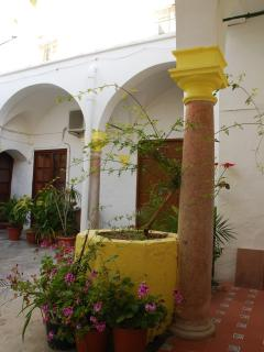 The Typical Patio Andaluz from which you enter into the apartment