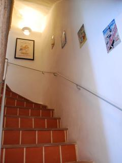 Staircase to the bedrooms