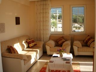 The lounge area, ideal to relax in the evenings or daytimes if the temperature is too hot ourside
