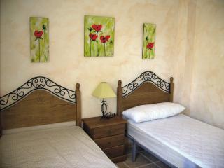 Modern twin bedded room