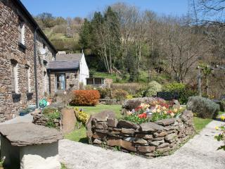 The garden of the cottage & some of the surrounding countryside